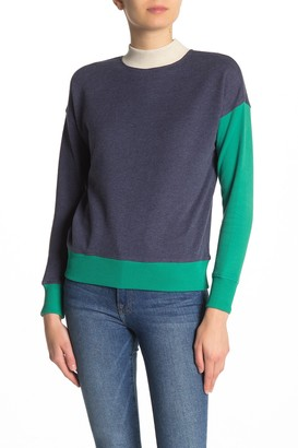 525 America Colorblock Mock Neck Sweater