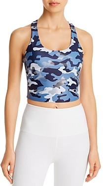 Aqua Athletic Camo Racerback Cropped Tank - 100% Exclusive