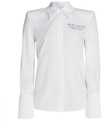 Off-White Popeline Shoulder Pads Shirt