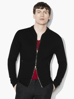 John Varvatos Linen Bomber Sweater