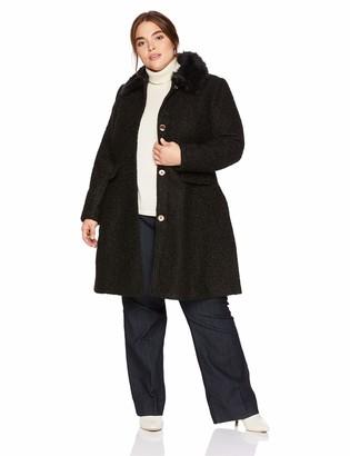 City Chic Women's Apparel Women's Plus Size Coat Winter Rose