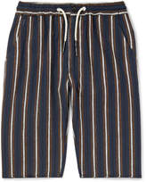 President's - Striped Cotton And Linen-blend Drawstring Shorts