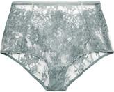 I.D. Sarrieri High-rise Chantilly lace briefs