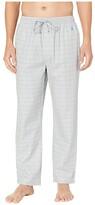 Nautica Windowpane Plaid Sleep Pants (Neutral Grey) Men's Pajama