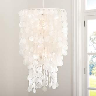 Pottery Barn Teen Oversize Capiz Chandelier, White