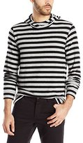 Velvet by Graham & Spencer Men's Floyd Cashmere-Like Cozy Jersey Stripe Hoodie