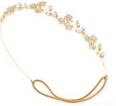 Jennifer Behr Violet Bandeaux Gold-tone Crystal Headband - one size