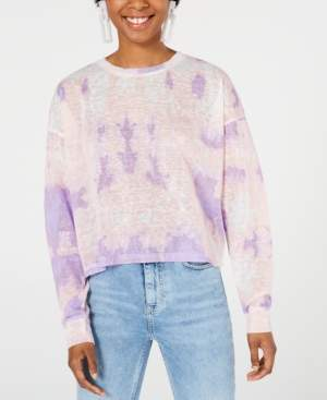 Say What Juniors' Tie-Dye Long-Sleeve Shirt