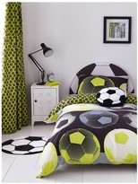 Thumbnail for your product : Catherine Lansfield Neon Football Duvet Cover Set - Yellow