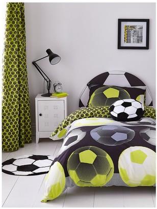 Catherine Lansfield Neon Football Duvet Cover Set - Yellow
