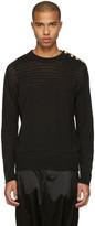 Balmain Black Relief Sweater