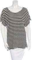 Yigal Azrouel Striped Scoop Neck T-Shirt