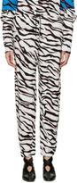 Kenzo White Tiger Stripe Lounge Pants