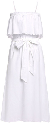 Joie Rindinya Belted Layered Cotton-poplin Midi Dress