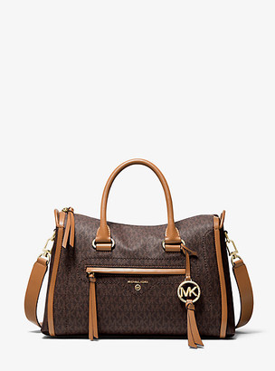 Michael Kors Carine Medium Logo Satchel