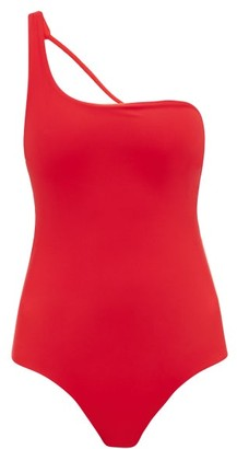 JADE SWIM Apex One-shoulder Swimsuit - Womens - Red