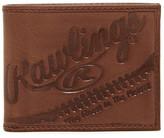 Rawlings Sports Accessories Fielder&s Choice Bi-Fold Leather Wallet