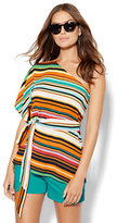 New York & Co. 7th Avenue Design Studio One-Shoulder Blouse - Stripe