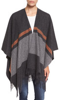 Rag & Bone Varsity Stripe Wool Felt Wrap, Charcoal