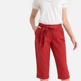 """Anne Weyburn Linen and Cotton Cropped Trousers, Length 18.5"""""""