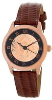 August Steiner Women's Indian Head Penny Genuine Leather Strap Watch