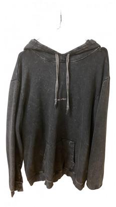 Saint Laurent Anthracite Cotton Knitwear & Sweatshirts