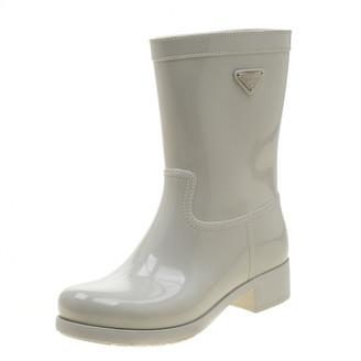 Prada White Plastic Boots