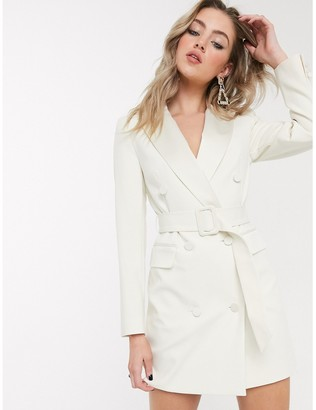 Topshop tux blazer dress in ivory