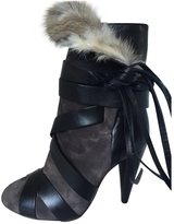 Isabel Marant Anthracite Leather Ankle boots