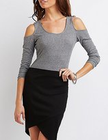 Charlotte Russe Envelope Hem Pencil Skirt