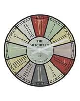 Fashion World Personalised Multi Colour Family Clock