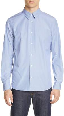 A.P.C. Designer Chemise Hector Stripe Poplin Button-Up Shirt