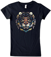 Micro Me Black Geometric Tiger Tee - Infant Toddler & Girls
