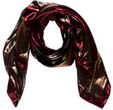Lanvin Metallic Graphic Print Scarf