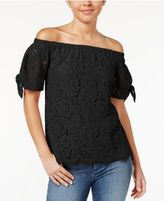 Miss Chievous Juniors' Off-The-Shoulder Lace Top