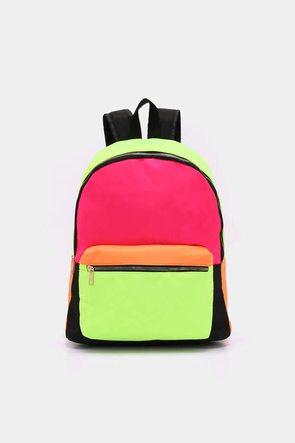 Ardene Neon Color Block Backpack