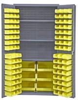 """72"""" H x 36"""" W x 24"""" D Heavy Duty Flush Door Style Storage Cabinet Durham Manufacturing"""