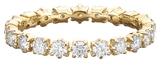 Jade Trau 6 Prong White Diamond Wedding Band Ring