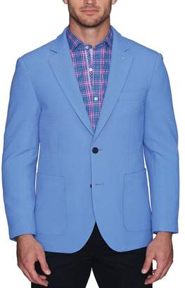 Tailorbyrd Waffle Textured Two Button Notch Lapel Modern Fit Sport Coat