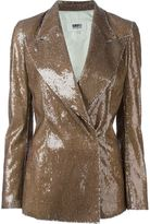 MM6 MAISON MARGIELA double breasted sequin blazer - women - Polyester/Viscose - 38