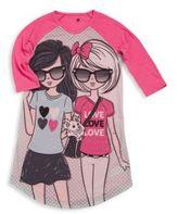 Petit Lem Girl's Printed Long Sleeve Sleepshirt