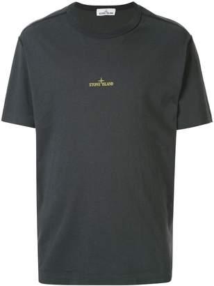 Stone Island logo print crew neck T-shirt