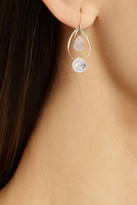 Melissa Joy Manning 14-karat gold, rose quartz and moonstone earrings