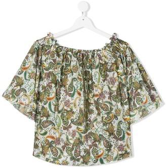 La Stupenderia TEEN paisley print blouse