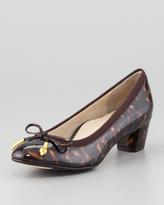 Taryn Rose Fairlawn Patent Leather Bow Pump, Tortoise