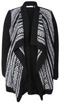 Dex Plus Jacquard-Knit Flyaway Sweater