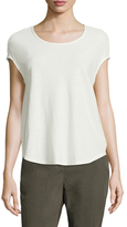 James Perse Novelty Cap Sleeve Top
