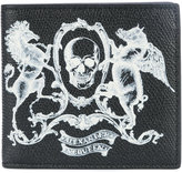 Alexander McQueen skull coat of arms wallet - men - Calf Leather - One Size
