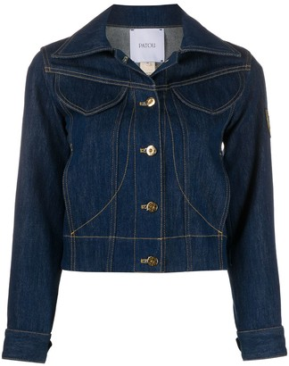 Patou Logo Patch Denim Jacket