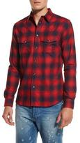 Givenchy Plaid Western Shirt, Red/Navy